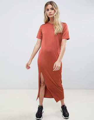 Asos Design DESIGN ultimate slinky t-shirt maxi dress