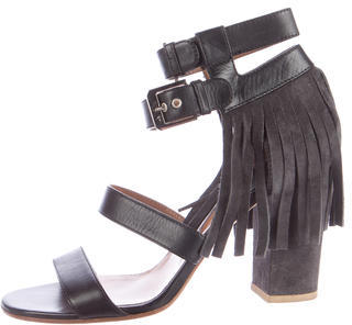 Laurence Dacade Fringe-Trimmed Leather Sandals $175 thestylecure.com