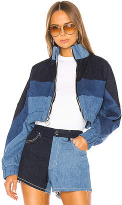 Frankie B. Chloe Denim Track Jacket.