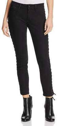 Mavi Jeans Adriana Lace-Up Ankle Skinny Jeans in Black Eyelet