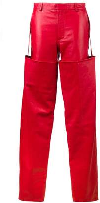 Y/Project high-waisted Leather Trousers with Detachable Chaps