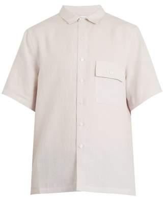 Fanmail Patch Pocket Linen Shirt - Mens - Light Grey