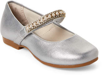 Pampili Toddler/Kids Girls) Silver Embellished Mary Jane Shoes