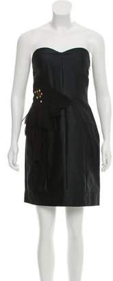 Matthew Williamson Silk-Blend Strapless Dress