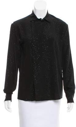 Tomas Maier Silk Long Sleeve Blouse