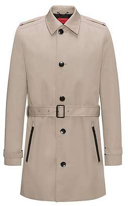 HUGO BOSS Water-repellent mid-length trench coat in a slim fit