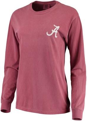 Unbranded Women's Crimson Alabama Crimson Tide Comfort Colors Campus Skyline Long Sleeve Oversized T-Shirt