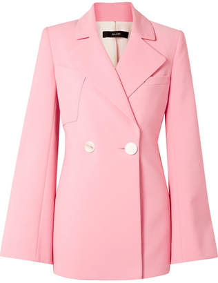 Ellery Calling Card Oversized Double-breasted Crepe Blazer - Pink