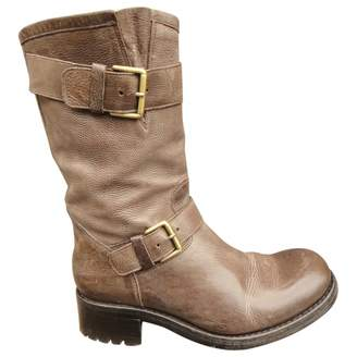 Free Lance Leather buckled boots