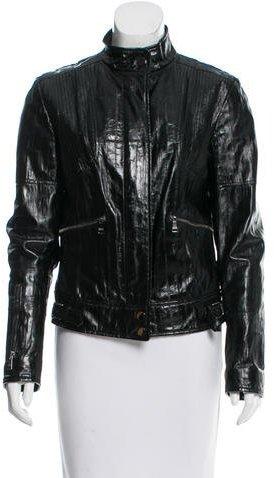 Dolce & GabbanaDolce & Gabbana Eel Skin Jacket