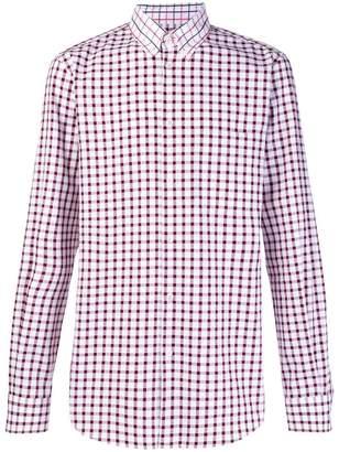 Stella McCartney contrast collar check shirt