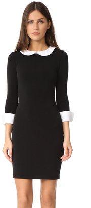 alice + olivia Vesta 3/4 Sleeve Collared Dress $283 thestylecure.com