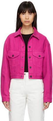 Simon Miller Pink Denim Morgo Jacket