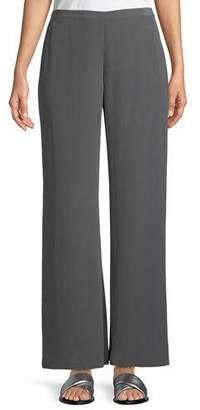 Go Silk Full-Leg Silk Crepe Pull-On Pants, Petite