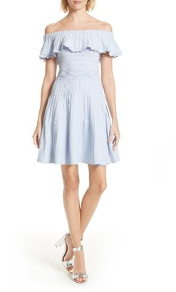 Women's Ted Baker London Dilpree Off The Shoulder Skater Dress $309 thestylecure.com