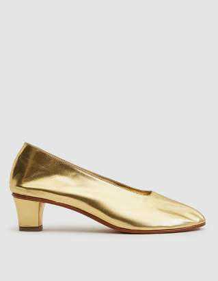 Martiniano High Glove Heel in Gold