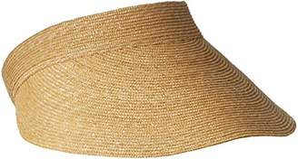 Gottex Women's Boracay Fine Milan Straw Packable Visor Rated $99 thestylecure.com