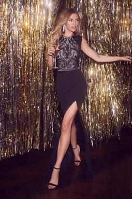 b34838d8ff4f Next Lipsy Abbey Clancy x Sequin Cornelli Artwork Maxi Dress - 8