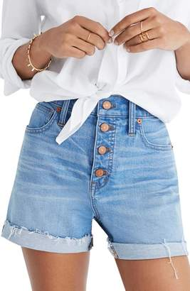 Madewell Button Front High Waist Denim Shorts