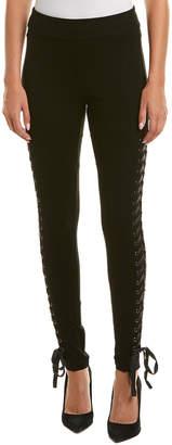 True Religion Lace-Up Silk-Trim Legging