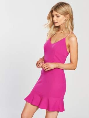97c5d0537936b AX Paris PETITE Strappy Frill Hem Mini Dress