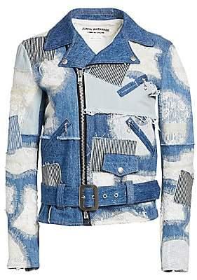 Junya Watanabe Women's Patchwork Lace Denim Moto Jacket