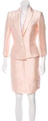 Antonio Berardi Satin Structured Skirt Suit