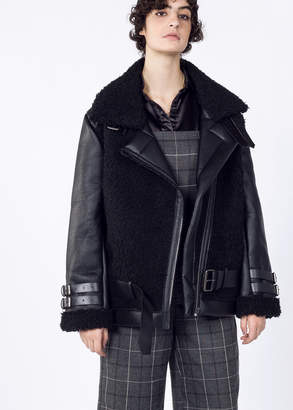 Moon River Faux Leather Shearling Coat | Wildfang - Faux Shearling Coat - BLACK - XSMALL