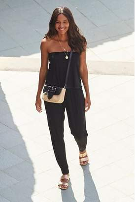 Next Womens Black Ric Rac Layer Jumpsuit