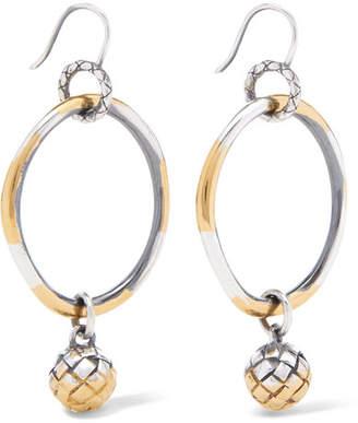 Bottega Veneta Dichotomy Gold-plated Silver Earrings