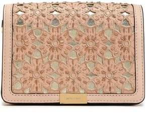 MICHAEL Michael Kors Embellished Laser-Cut Leather Shoulder Bag
