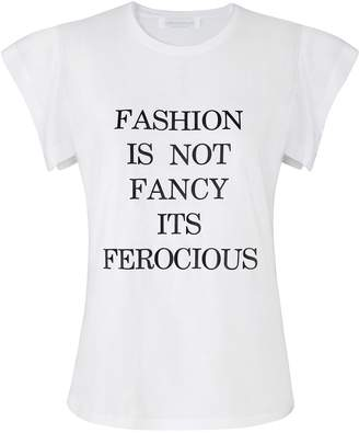 Siobhan Molloy - White Fashion Is Not Fancy Fly-Away Sleeve T-Shirt