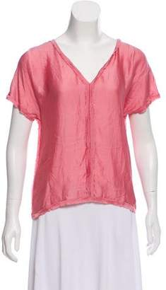Chanel Silk Short Sleeve Top