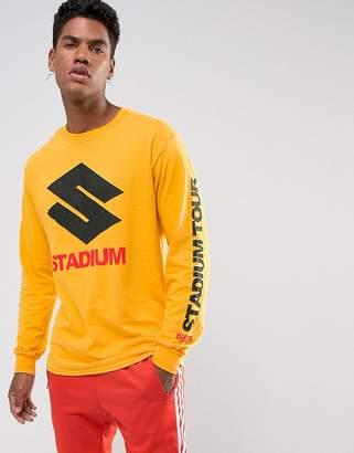 Justin Bieber Bravado Tour Merch Stadium Tour Long Sleeve T-Shirt In Yellow