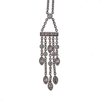 Tiffany & Co. Platinum with 0.99ct Diamond Drop Pendant Necklace