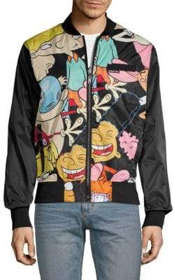Members Only Graphic Reversible Bomber Jacket