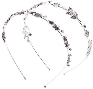 Berry Silver-Tone Leaf & Crystal Detail Headband - Set of 2 $14.97 thestylecure.com