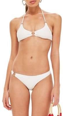 Topshop Ribbed Ring Bikini Top