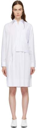 Cédric Charlier White Layered Shirt Dress