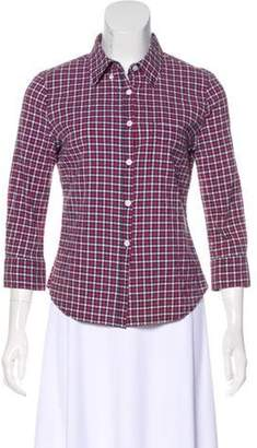 Boy By Band Of Outsiders Gingham Button-Up Top Red Gingham Button-Up Top