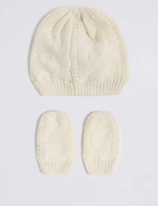 Marks and Spencer Baby Hat & Mittens Set
