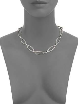 Charles Krypell 14K White Gold & Sterling Silver Necklace
