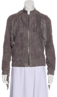Anine Bing Fringe-Accented Jacket