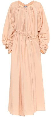 Jil Sander Gathered midi dress