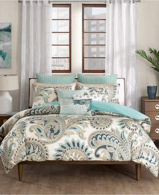Ink+ivy Ink+Ivy Mira Cotton Reversible Paisley Print Full/Queen Duvet Mini Set Bedding