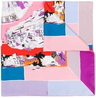 Emilio Pucci graphic printed scarf