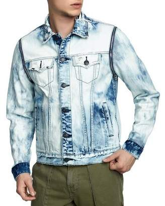 True Religion Men's Danny Distressed Denim Jacket
