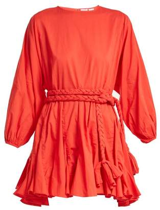 e0b9dd802 COM · Rhode resort Rhode Resort - Ella Tie Waist Cotton Dress - Womens - Red