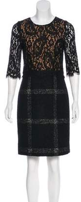 Dolce & Gabbana Lace-Accented Knee-Length Dress