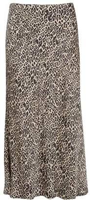 Mint Velvet Neutral Philippa Print Skirt